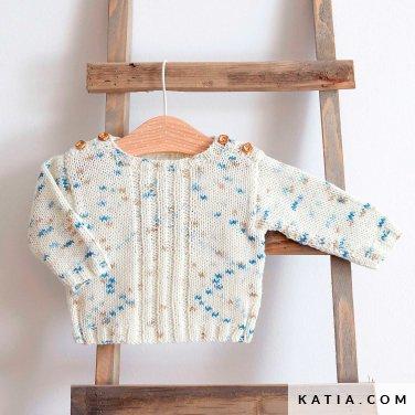 patroon breien haken baby trui lente zomer katia 6252 12 p
