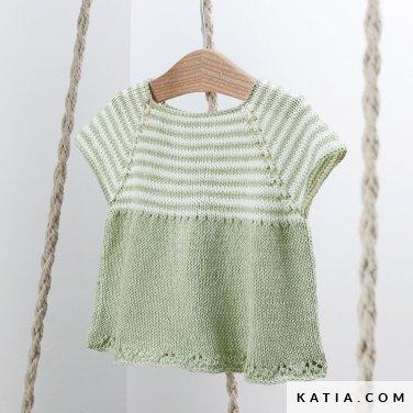 patroon breien haken baby trui lente zomer katia 6252 22 p