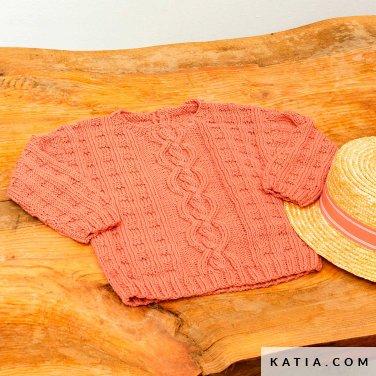 patroon breien haken baby trui lente zomer katia 6252 31 p