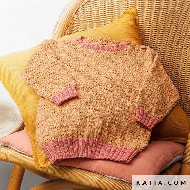 patroon breien haken baby trui lente zomer katia 6252 32 p