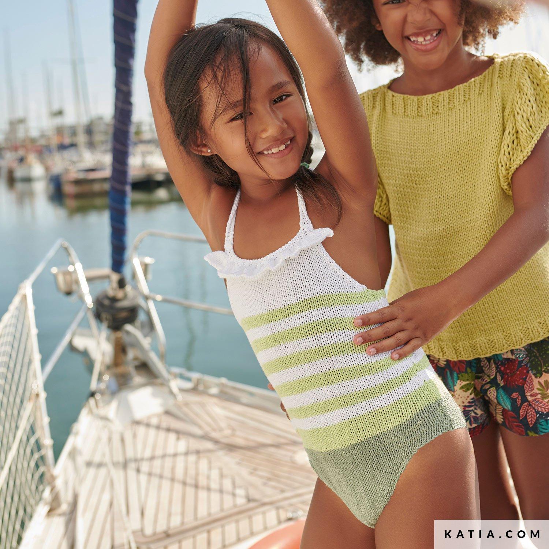 patroon breien haken kinderen badpak lente zomer katia 6253 28 g