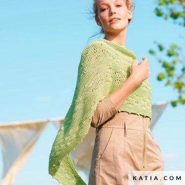 patroon breien haken dames stola lente zomer katia 6254 42 p