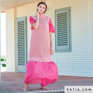 patroon breien haken dames trui lente zomer katia 6254 13 p
