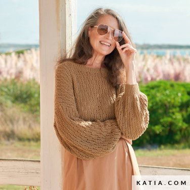 patroon breien haken dames trui lente zomer katia 6254 20 p