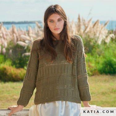 patroon breien haken dames trui lente zomer katia 6254 22 p