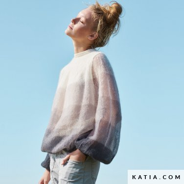 patroon breien haken dames trui lente zomer katia 6254 26 p