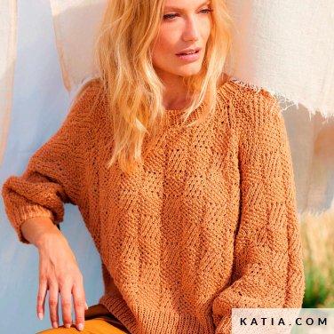 patroon breien haken dames trui lente zomer katia 6254 27 p