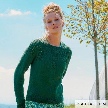 patroon breien haken dames trui lente zomer katia 6254 30 p