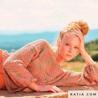 patroon breien haken dames trui lente zomer katia 6254 31 p