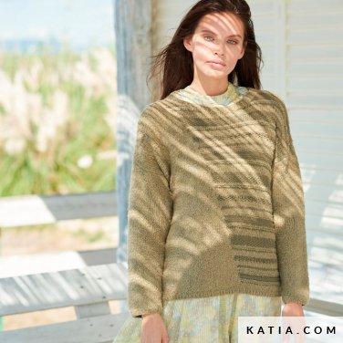 patroon breien haken dames trui lente zomer katia 6254 4 p