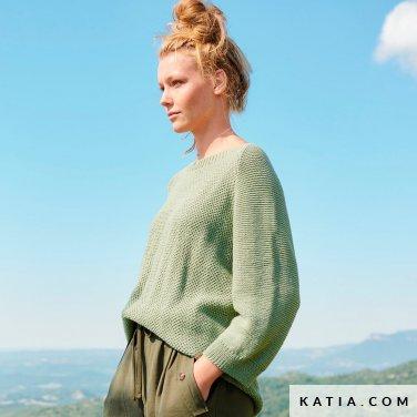 patroon breien haken dames trui lente zomer katia 6254 40 p