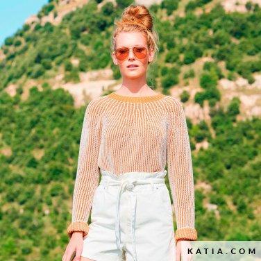 patroon breien haken dames trui lente zomer katia 6254 41 p
