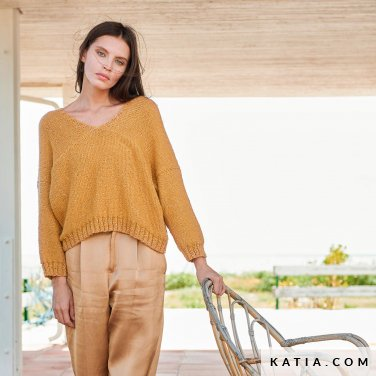 patroon breien haken dames trui lente zomer katia 6254 5 p