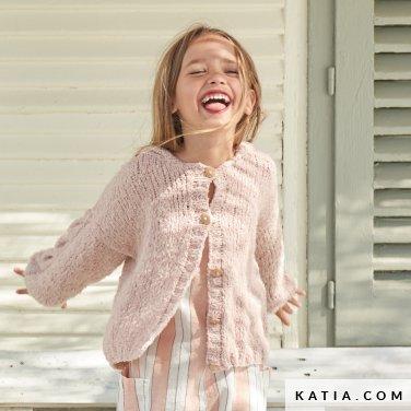 patroon breien haken kinderen jas lente zomer katia 6254 3 p