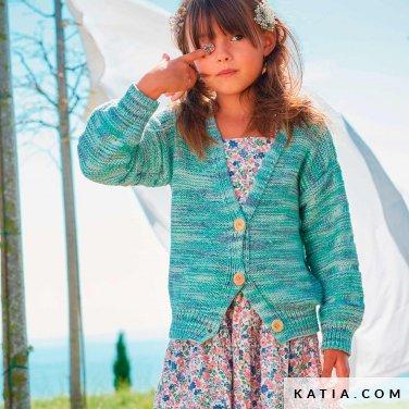 patroon breien haken kinderen jas lente zomer katia 6254 32 p