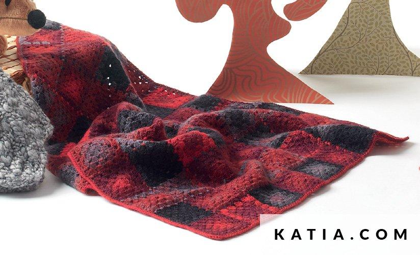 Manta - Bebé - Otoño / Invierno - patrones | Katia.com
