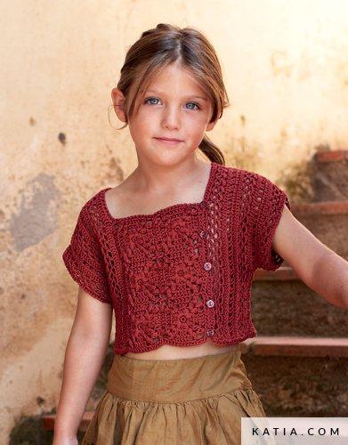 Topje Kinderen Lente Zomer Modellen Patronen Katiacom