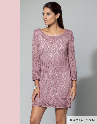 62c6b179b99 patron tricoter tricot crochet femme robe printemps ete katia 6768 12 g ...