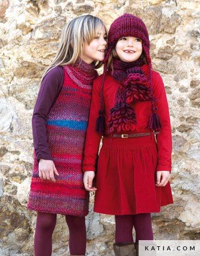 0bbf9aa00e5807 patroon breien haken kinderen jurk herfst winter katia 6788 24 g