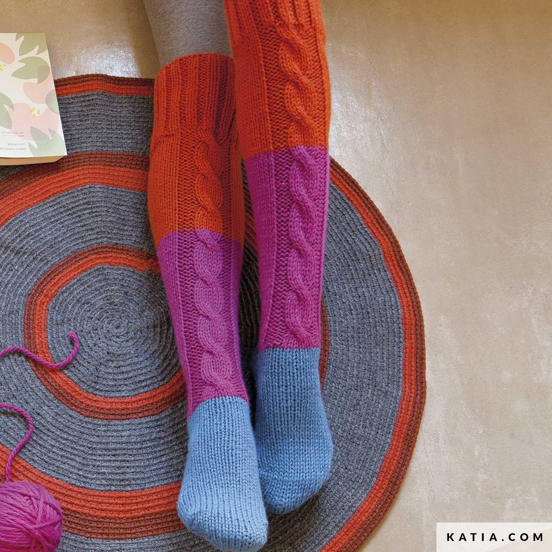 Calcetines largos - Calcetines - Otoño / Invierno - patrones | Katia.com