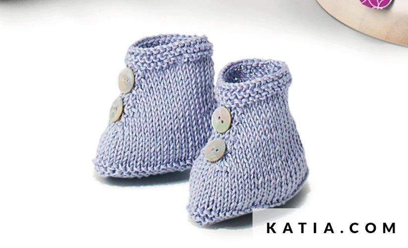 Botitas - Bebé - Primavera / Verano - patrones   Katia.com