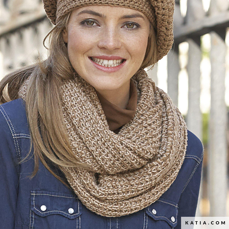 0a6a4e1a7117f patron tricoter tricot crochet femme echarpe automne hiver katia 6896 22b g  .