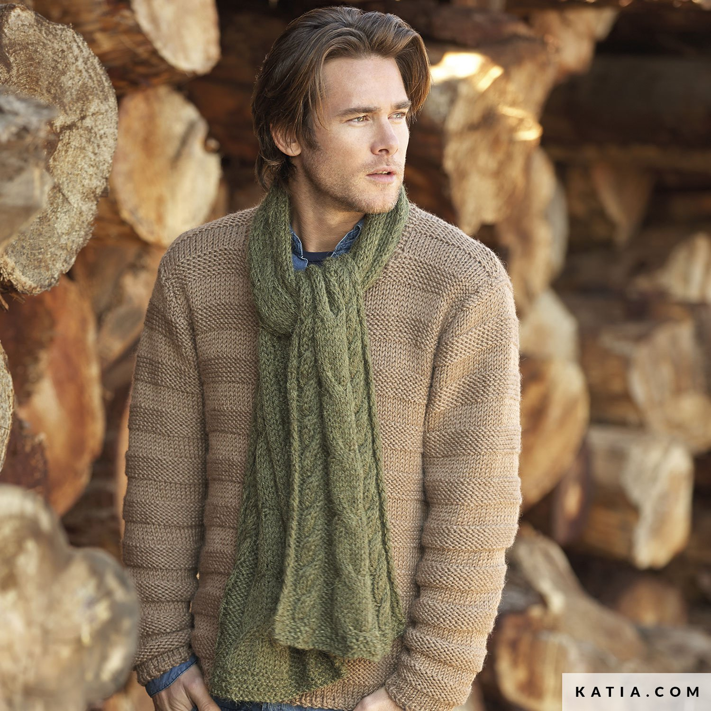 Scarf - Man - Autumn   Winter - models   patterns  96664e13a