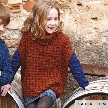 Poncho Kinderen Herfst Winter Modellen Patronen Katiacom