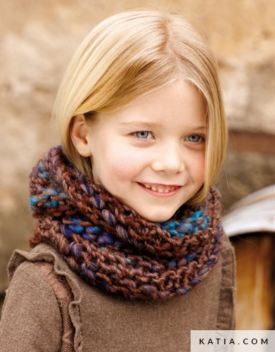 Cowl Kids Autumn Winter Models Patterns Katia