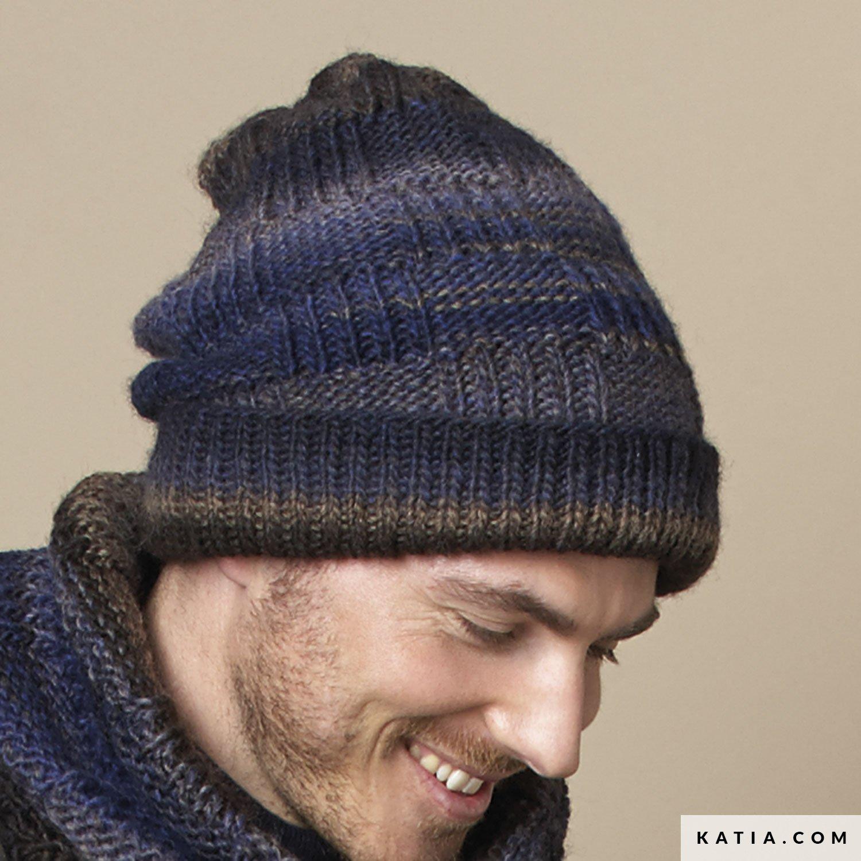ce0a95cda6d patron tricoter tricot crochet homme bonnet automne hiver katia 6908 18 g