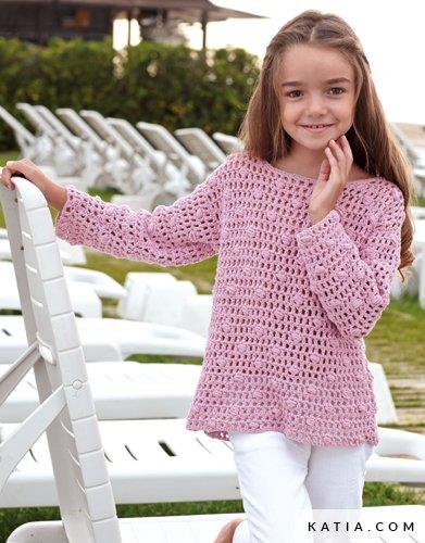 Sweater Kids Spring Summer Models Patterns Katia