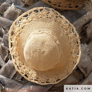 16cacd0d9707c patron tejer punto ganchillo mujer sombrero primavera verano katia 6922 5c p