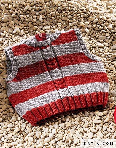 Weste - Baby - Herbst / Winter - Modelle & Anleitungen | Katia.com