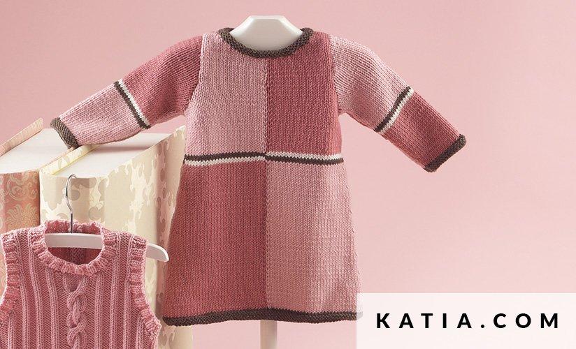 Vestido - Bebé - Otoño / Invierno - patrones   Katia.com