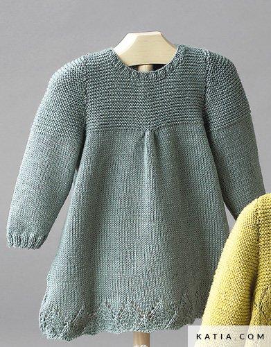 Kleid - Baby - Herbst / Winter - Modelle & Anleitungen | Katia.com
