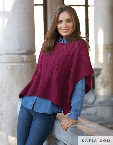 Poncho Woman Autumn Winter Models Patterns Katia