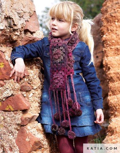 Scarf Kids Autumn Winter Models Patterns Katia