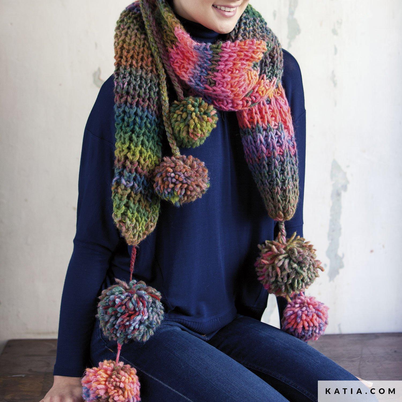 nuevo producto 80230 7e2d4 Bufanda - Mujer - Otoño / Invierno - patrones | Katia.com