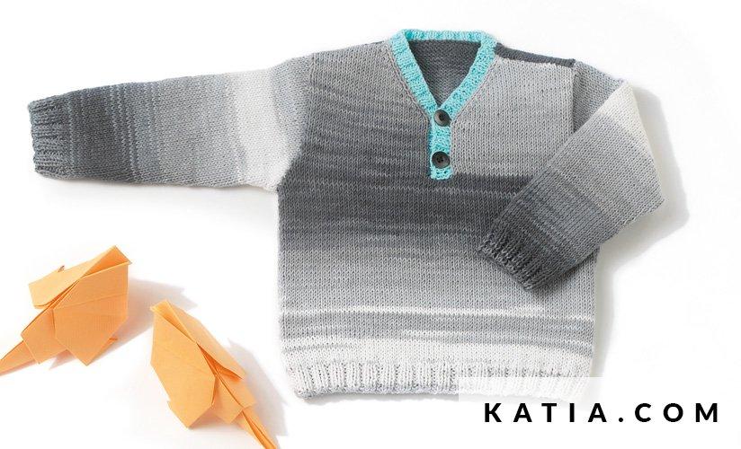 Anleitung Stricken Hakeln Baby Pullover Fruhjahr Sommer Katia 6983 30 G