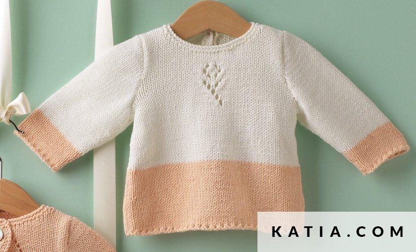 Anleitung Stricken Hakeln Baby Pullover Fruhjahr Sommer Katia 6983 6 G