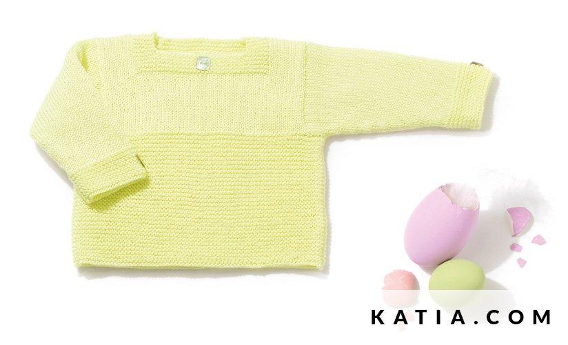 Jersey - Bebé - Primavera / Verano - patrones | Katia.com