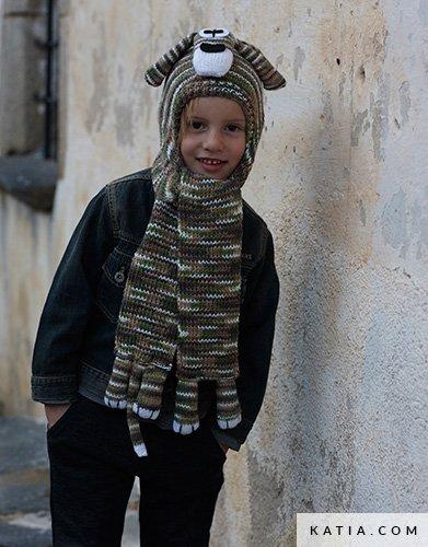 Bufanda-Capucha - Niños - Otoño / Invierno - patrones | Katia.com
