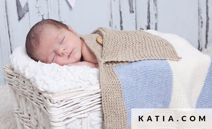 Baby Deken Breien.Deken Baby Lente Zomer Modellen Patronen Katia Com