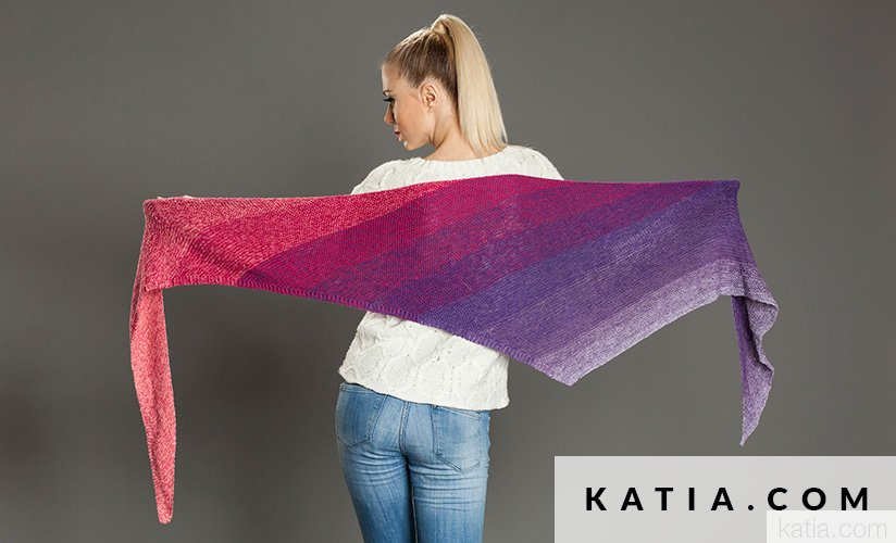 Chal - Mujer - Primavera / Verano - patrones   Katia.com