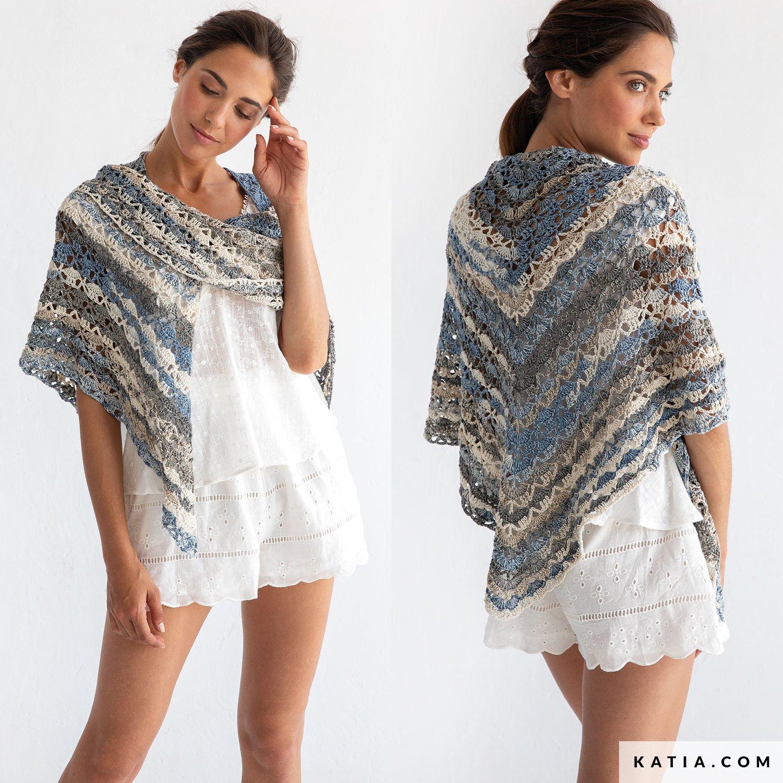 70a4da5431c patron tricoter tricot crochet femme foulard printemps ete katia 8029 490 g
