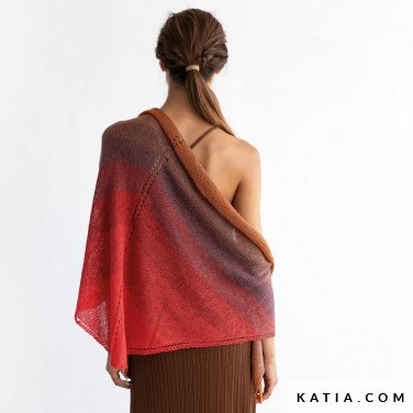 patroon breien haken dames omslagdoek lente zomer katia 8029 476 p