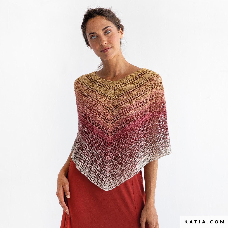 Poncho - Woman - Spring / Summer - models & patterns | Katia com