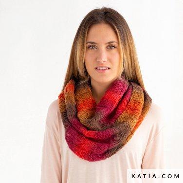 patroon breien haken dames colsjaal herfst winter katia 8030 446 p