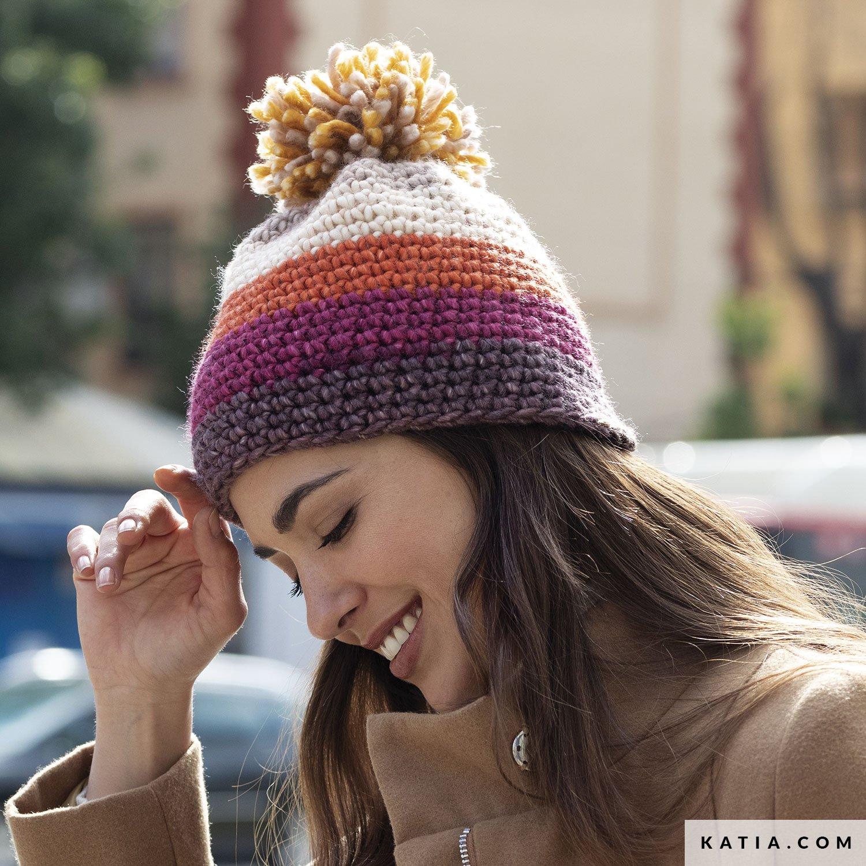 patroon breien haken dames muts herfst winter katia 8030 484 g
