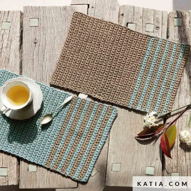 pattern knit crochet home place mat autumn winter katia 8030 418 p